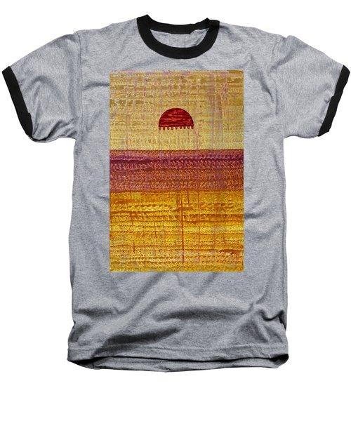 High Desert Horizon Original Painting Baseball T-Shirt by Sol Luckman
