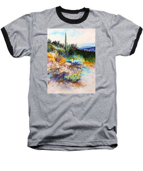 Baseball T-Shirt featuring the painting High Desert Scene 2 by M Diane Bonaparte