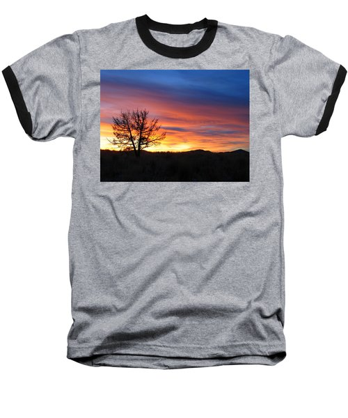 Baseball T-Shirt featuring the photograph High Desert Sunset by Kevin Desrosiers
