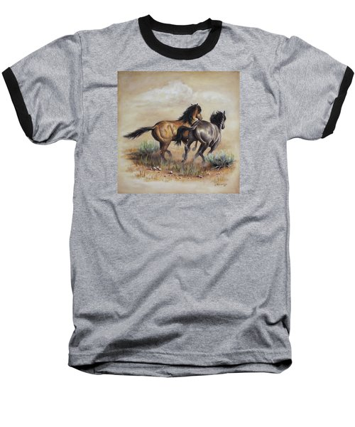 High Tailin' It Baseball T-Shirt by Kim Lockman