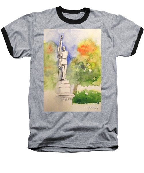 Highland Cemetery-plein Air-ypsilanti Michigan 1 Baseball T-Shirt by Yoshiko Mishina