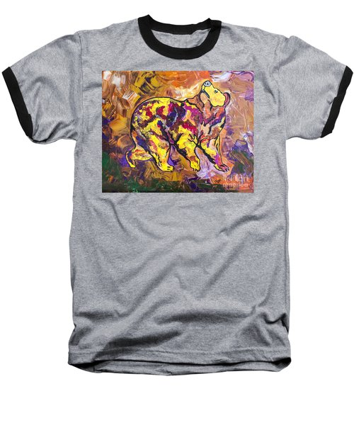 Baseball T-Shirt featuring the painting Highland's North Carolina Bear by Janice Rae Pariza
