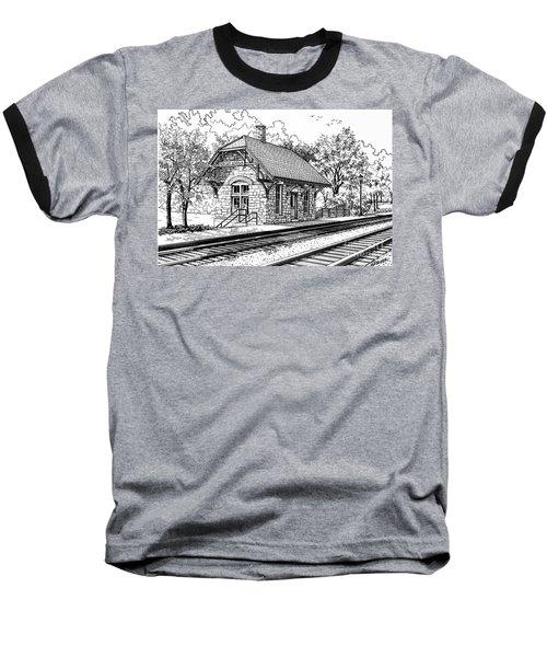 Highlands Train Station Baseball T-Shirt