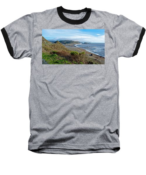Highway 1 Near Outlet Of Russian River Into Pacific Ocean Near Jenner-ca  Baseball T-Shirt