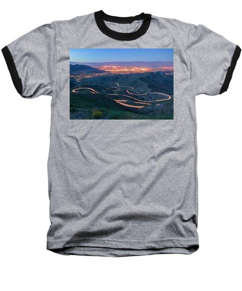 Highway 74 Palm Desert Ca Vista Point Light Painting Baseball T-Shirt