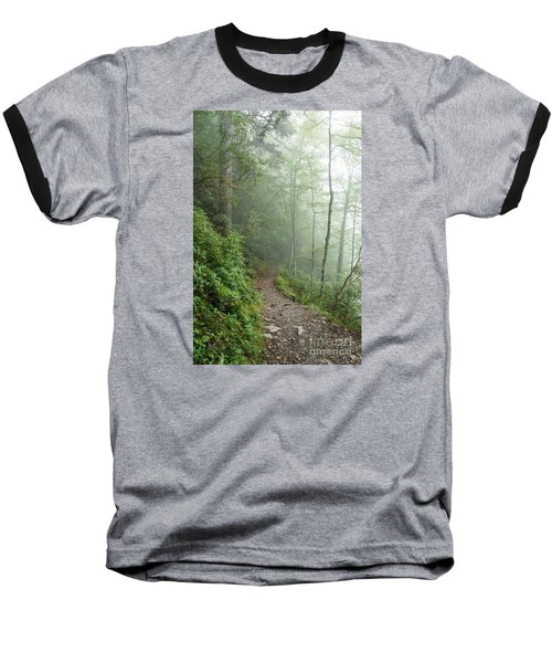 Hiking In The Clouds Baseball T-Shirt by Debbie Green