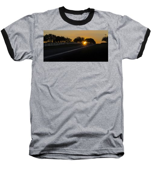 Hill Country Sunrise 2 Baseball T-Shirt by Debbie Karnes