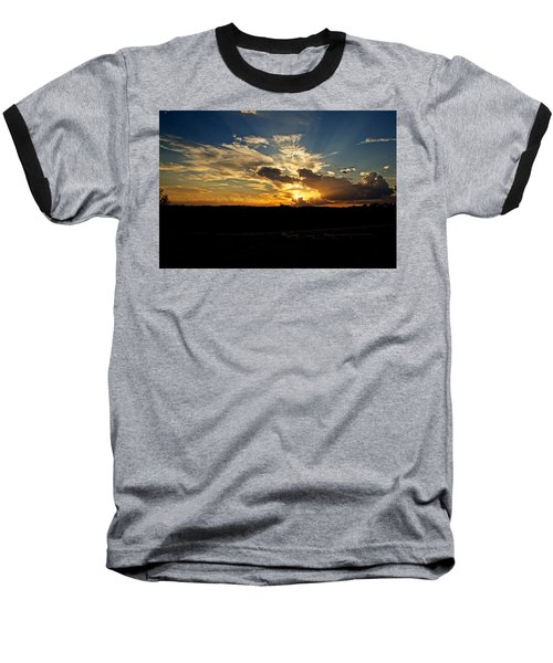 Hill Country Sunset Baseball T-Shirt