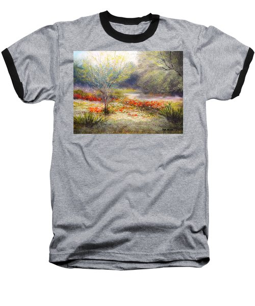 Hill Country Wildflowers Baseball T-Shirt by Patti Gordon