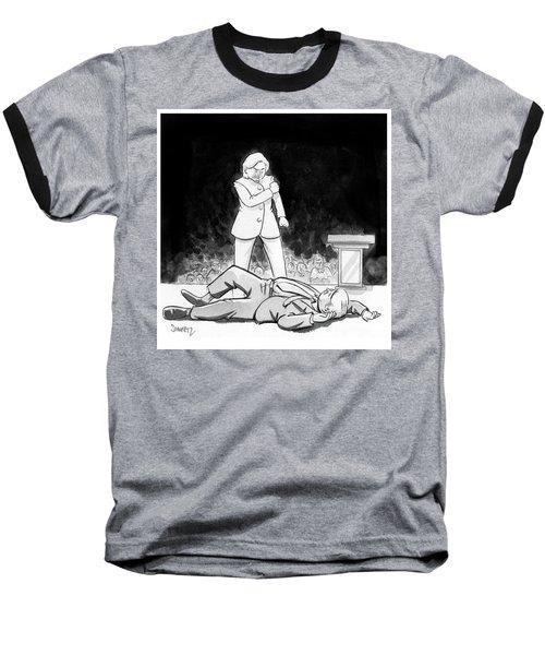 Hillary Clinton Knocks Out Donald Trump Baseball T-Shirt
