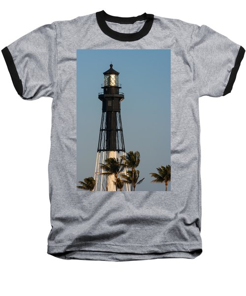 Hillsboro Inlet Lighthouse In The Evening Baseball T-Shirt by Ed Gleichman