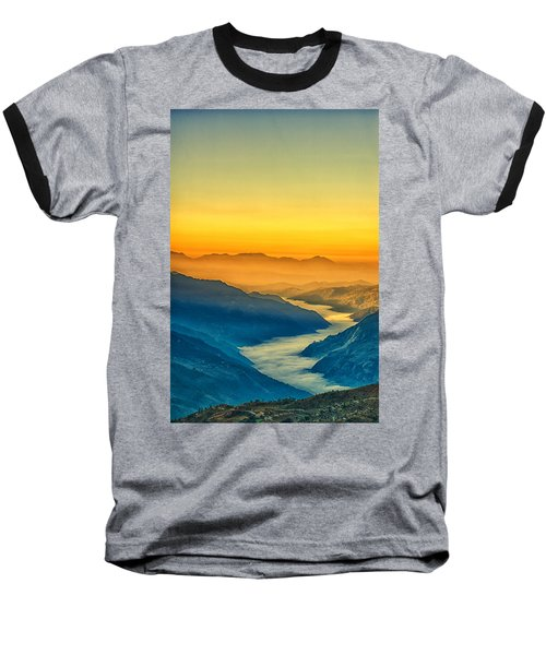 Himalaya In The Morning Light Baseball T-Shirt by Ulrich Schade