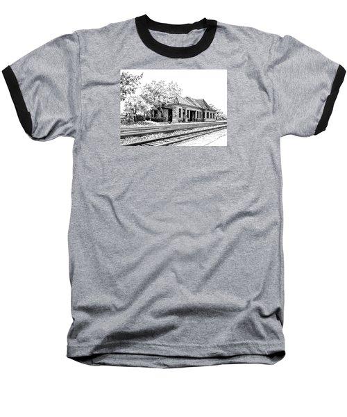Hinsdale Train Station Baseball T-Shirt