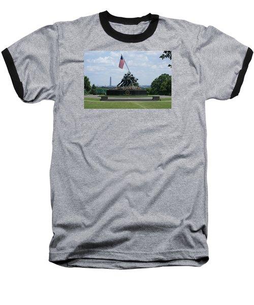 Iwo Jima Baseball T-Shirt by Heidi Poulin