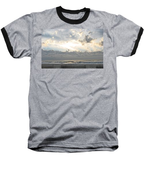 Baseball T-Shirt featuring the photograph His Glory Shines by Judith Morris