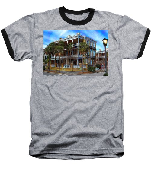 Baseball T-Shirt featuring the photograph Historic Charleston Mansion by Kathy Baccari