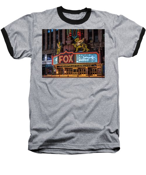 Historic Fox Theatre In Detroit Michigan Baseball T-Shirt