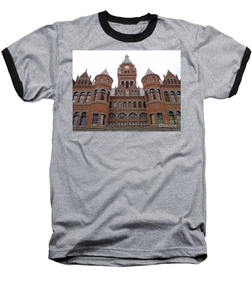 Baseball T-Shirt featuring the photograph Historic Old Red Courthouse Dallas #1 by Robert ONeil