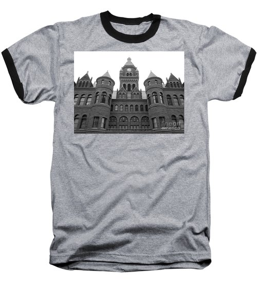 Baseball T-Shirt featuring the photograph Historic Old Red Courthouse Dallas #2 by Robert ONeil