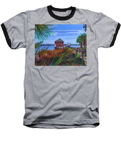 Historic Ormond Boathouse Baseball T-Shirt