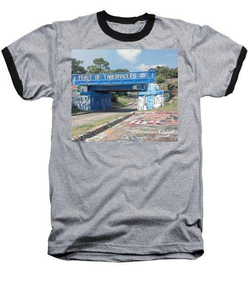 Historic Pensacola Graffiti Bridge Baseball T-Shirt