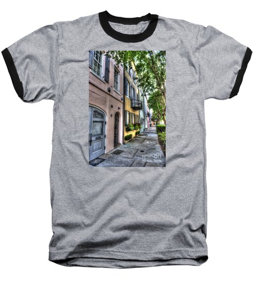 Historic Rainbow Row Baseball T-Shirt