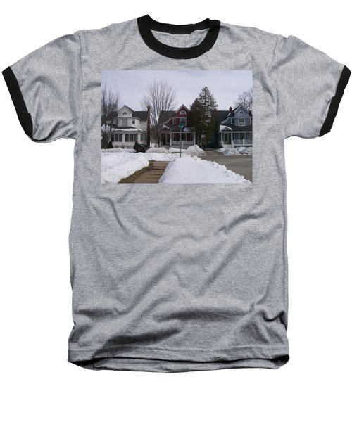 Baseball T-Shirt featuring the photograph Historic Seventh Street Menominee by Jonathon Hansen