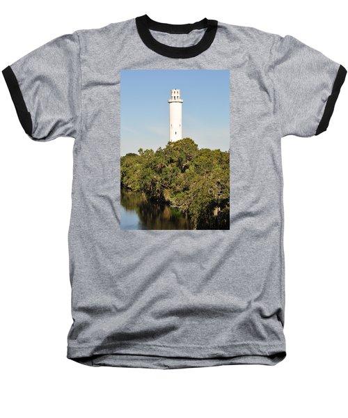 Historic Water Tower - Sulphur Springs Florida Baseball T-Shirt by John Black