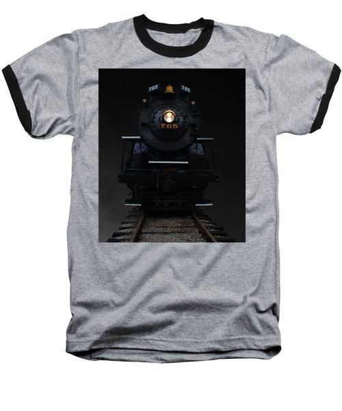 Historical 765 Steam Engine Baseball T-Shirt