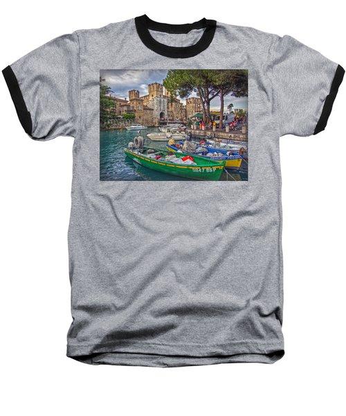 History At Lake Garda Baseball T-Shirt by Hanny Heim