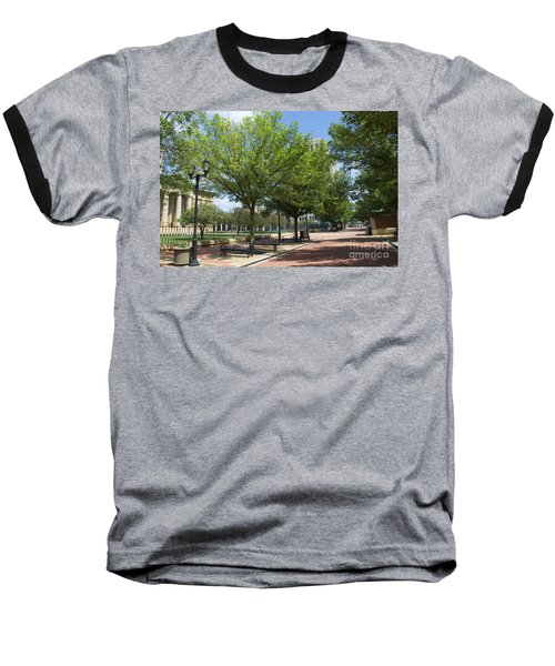 History -  Lincoln Square Springfield Il - Luther Fine Art Baseball T-Shirt by Luther Fine Art
