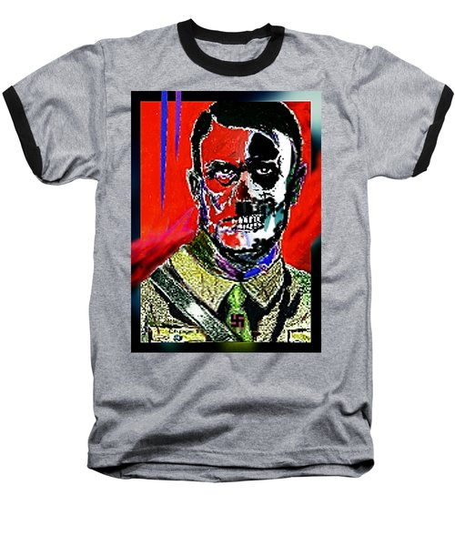 Hitler  - The  Face  Of  Evil Baseball T-Shirt by Hartmut Jager