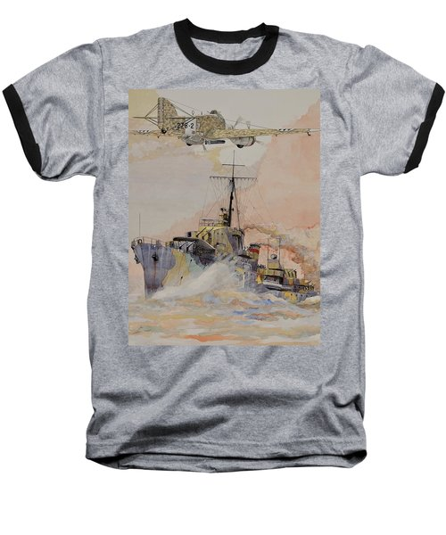 Hms Ashanti Baseball T-Shirt by Ray Agius