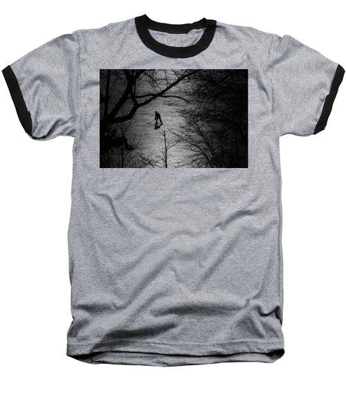 Hockey Silhouette Baseball T-Shirt