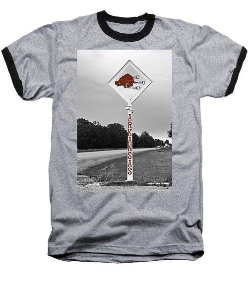 Hog Sign - Selective Color Baseball T-Shirt