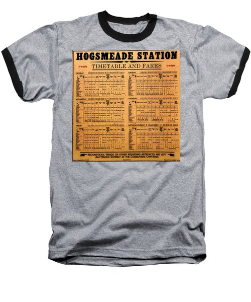 Hogsmeade Station Timetable Baseball T-Shirt