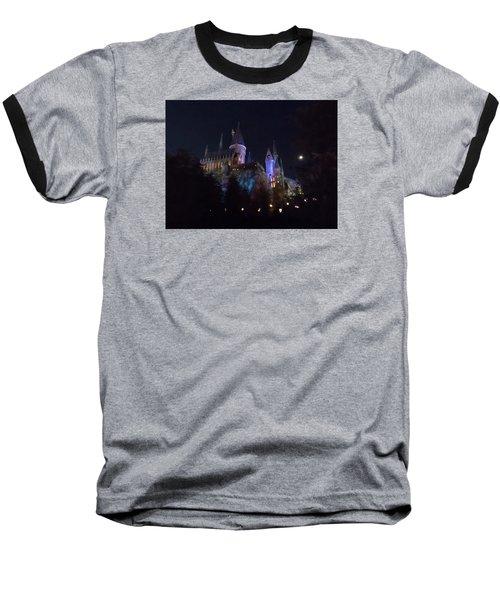 Hogwarts Castle In Lights Baseball T-Shirt