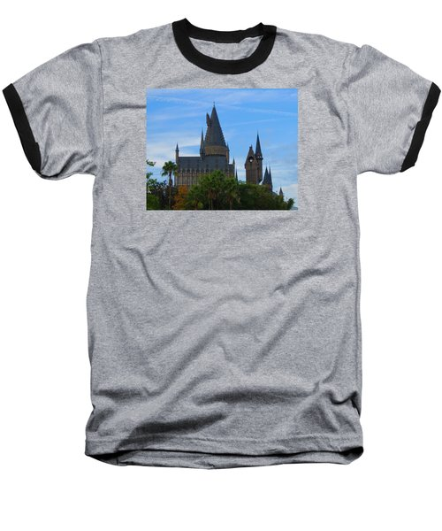 Hogwarts Castle With Towers Baseball T-Shirt by Kathy Long