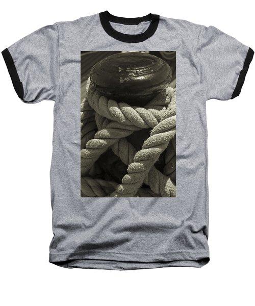 Hold On Black And White Sepia Baseball T-Shirt