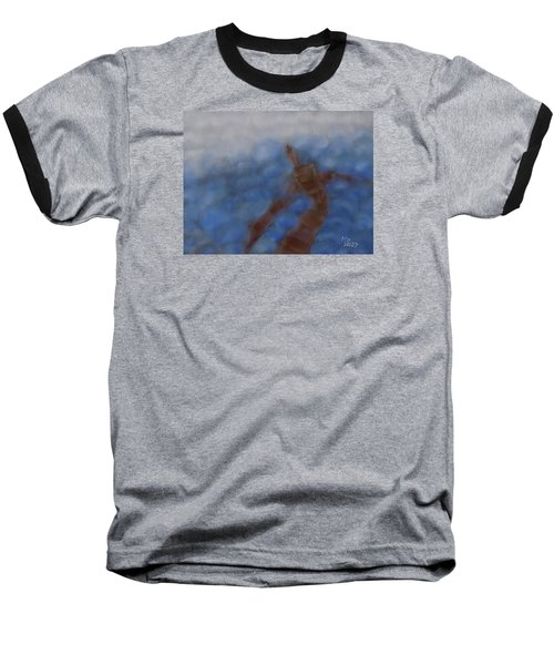 Hold The World Baseball T-Shirt by Min Zou