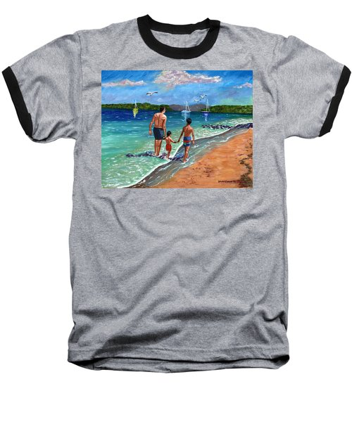 Holding Hands Baseball T-Shirt by Laura Forde