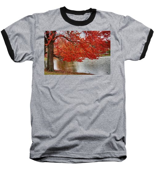Baseball T-Shirt featuring the photograph Holding Our Bright Red Joy by Jeff Folger