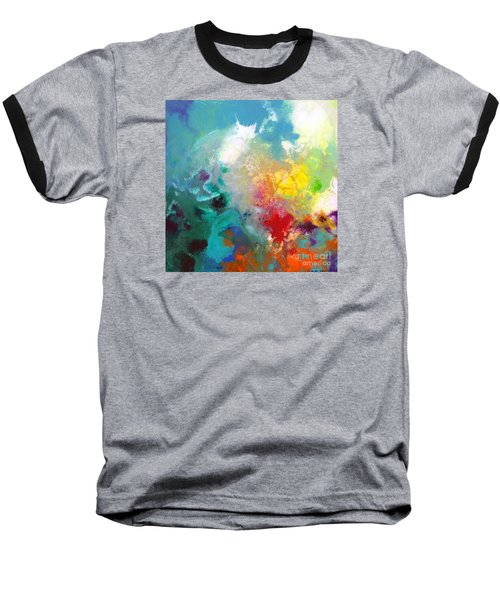 Holding The High Watch Canvas One Baseball T-Shirt by Sally Trace