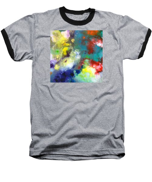 Holding The High Watch Canvas Two Baseball T-Shirt by Sally Trace