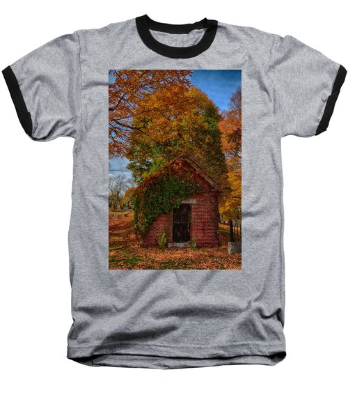 Baseball T-Shirt featuring the photograph Holding Up The  Fall Colors by Jeff Folger
