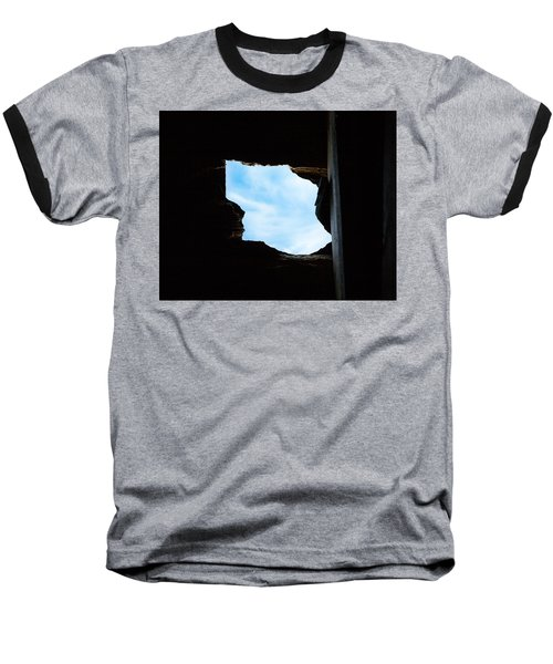 Baseball T-Shirt featuring the photograph Hole In The Roof  by Gary Heller