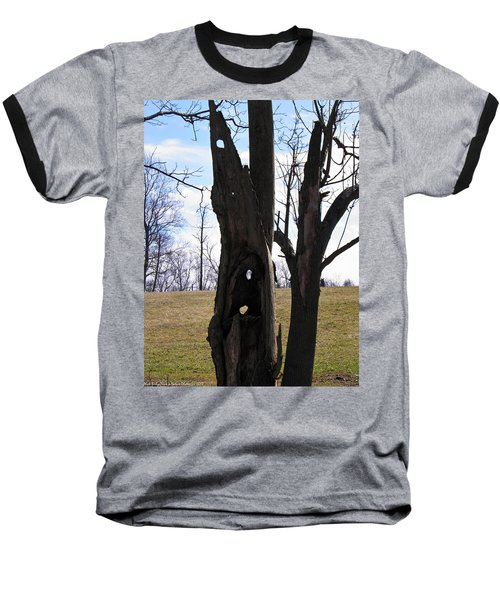 Baseball T-Shirt featuring the photograph Holey Tree Trunk by Nick Kirby