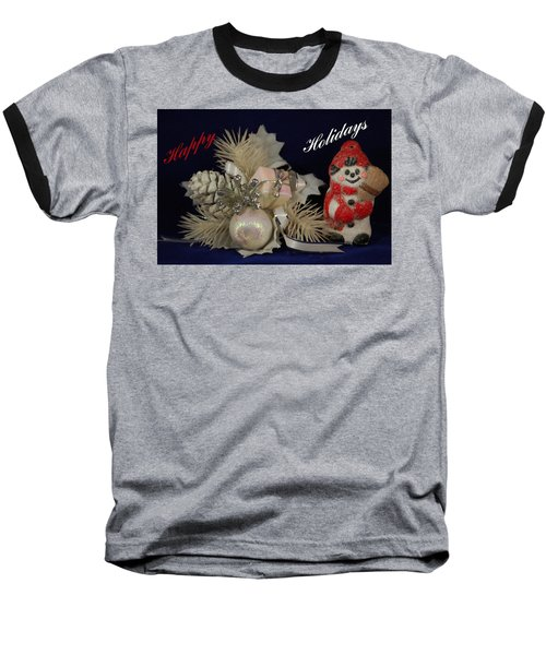 Holiday Greeting Baseball T-Shirt