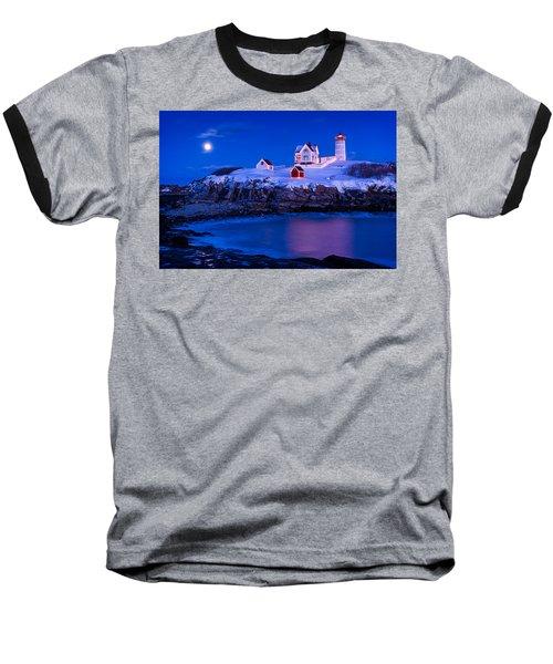 Holiday Moon Baseball T-Shirt