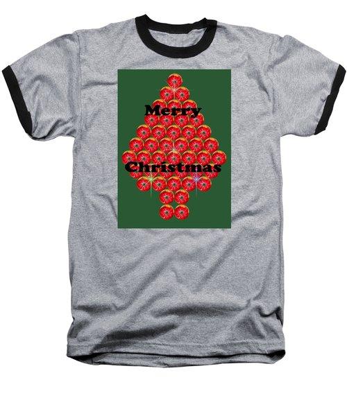 Holiday Tree Of Orbs 1 Baseball T-Shirt by Nick Kloepping